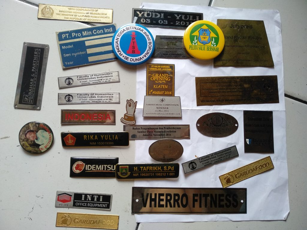 Jasa Pembuatan Plat Etching Senopati