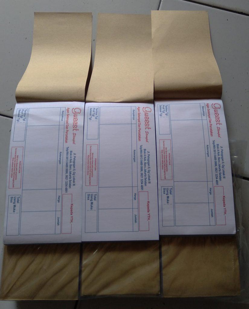 Jasa Cetak Nota , Invoice, Brosur , Undangan , Cetak Yasin, Kop Surat, Stiker Kemanggisan